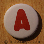 Uppercase A Button Badge