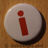 Lowercase I Button Badge