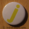 Lowercase J Button Badge