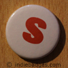 Lowercase S Button Badge