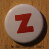 Lowercase Z Button Badge