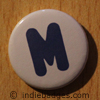Uppercase M Button Badge