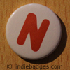Uppercase N Button Badge