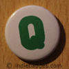 Uppercase Q Button Badge