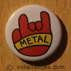 Metal Salute 1 Button Badge