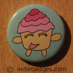 Cute Cupcake 1 Button Badge
