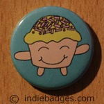 Cute Cupcake 2 Button Badge