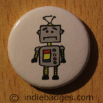 Cute Robot 1 Button Badge