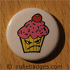 Cute Angry Cupcake Button Badge