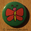 Cute Butterfly Button Badge