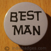 Best Man 38mm Button Badge