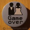 Game Over Blue 38mm Button Badge