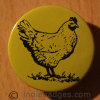 Hen 4 38mm Button Badge