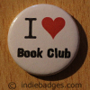 I Love Heart Book Club Button Badge