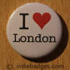 I Love Heart London Button Badge