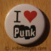 I Love Heart Punk Button Badge