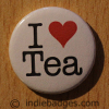 I Love Heart Tea Button Badge