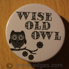 Wise Old Owl 38mm Button Badge