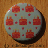 Birthday Cake Pattern Button Badge