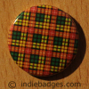 Tartan Pattern 3 Button Badge