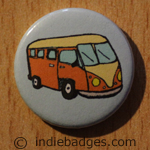 Retro Campervan 2 Button Badge