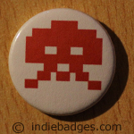 Retro Gamer Invader 3 Button Badge