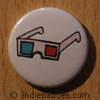 Retro 3d Glasses 1 Button Badge