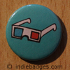 Retro 3d Glasses 2 Button Badge
