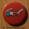 Retro 3d Glasses 3 Button Badge