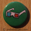 Retro 3d Glasses 4 Button Badge