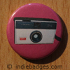 Retro Camera 2 Button Badge