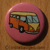 Retro Campervan 1 Button Badge