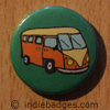 Retro Campervan 3 Button Badge
