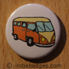 Retro Campervan 4 Button Badge