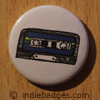 Retro Cassette Tape 2 Button Badge