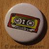 Retro Cassette Tape 3 Button Badge