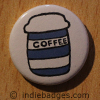 Retro Coffee Button Badge