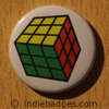 Retro Cube Button Badge