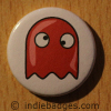 Retro Gamer Ghost 1 Button Badge