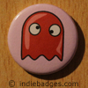 Retro Gamer Ghost 2 Button Badge