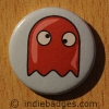 Retro Gamer Ghost 3 Button Badge