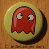 Retro Gamer Ghost 4 Button Badge