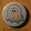 Retro Gamer Ghost 5 Button Badge