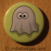 Retro Gamer Ghost 7 Button Badge