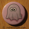 Retro Gamer Ghost 8 Button Badge
