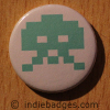Retro Gamer Invader 1 Button Badge