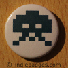 Retro Gamer Invader 2 Button Badge