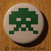 Retro Gamer Invader 4 Button Badge