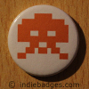 Retro Gamer Invader 5 Button Badge
