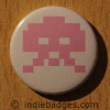 Retro Gamer Invader 6 Button Badge